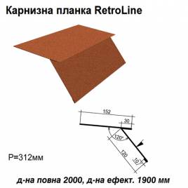 Карнизная планка Retroline RAL 750 PEMA 0,5 мм