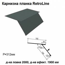 Карнизная планка Retroline RAL 023 PURMAT 0,5 мм