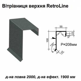 Ветровая планка верхняя Retroline RAL 023 PEMA 0,45 мм