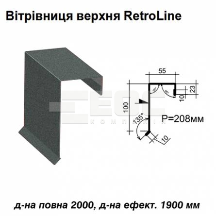 Ветровая планка верхняя Retroline RAL 023 PEMA 0,5 мм