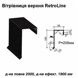 Ветровая планка верхняя Retroline RAL 033 PEMA 0,5 мм