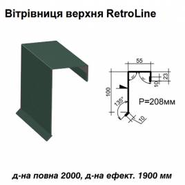 Ветровая планка верхняя Retroline RAL 011 PURMAT 0,5 мм