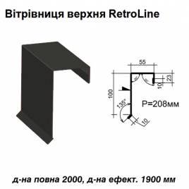 Ветровая планка верхняя Retroline RAL 033 PURMAT 0,5 мм