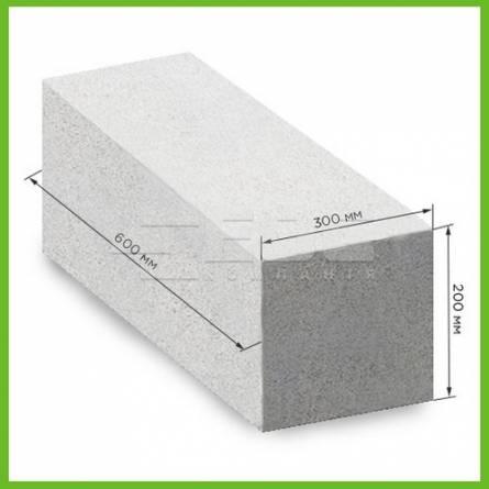 Газобетонный блок гладкий Stonelight D500, 600х200х300